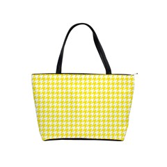 Friendly Houndstooth Pattern,yellow Shoulder Handbags