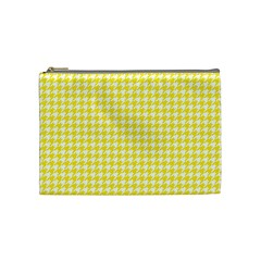 Friendly Houndstooth Pattern,yellow Cosmetic Bag (medium)