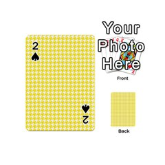 Friendly Houndstooth Pattern,yellow Playing Cards 54 (mini)