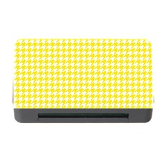 Friendly Houndstooth Pattern,yellow Memory Card Reader With Cf