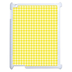 Friendly Houndstooth Pattern,yellow Apple Ipad 2 Case (white)