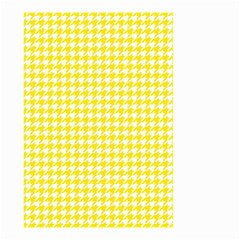 Friendly Houndstooth Pattern,yellow Small Garden Flag (two Sides)