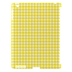 Friendly Houndstooth Pattern,yellow Apple Ipad 3/4 Hardshell Case (compatible With Smart Cover)