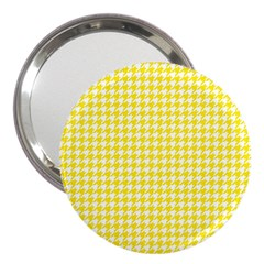 Friendly Houndstooth Pattern,yellow 3  Handbag Mirrors