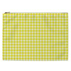 Friendly Houndstooth Pattern,yellow Cosmetic Bag (xxl)
