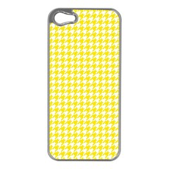 Friendly Houndstooth Pattern,yellow Apple Iphone 5 Case (silver)