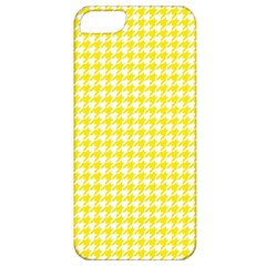 Friendly Houndstooth Pattern,yellow Apple Iphone 5 Classic Hardshell Case