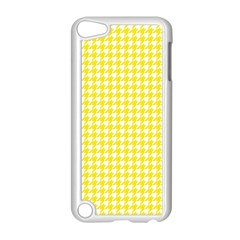 Friendly Houndstooth Pattern,yellow Apple Ipod Touch 5 Case (white)