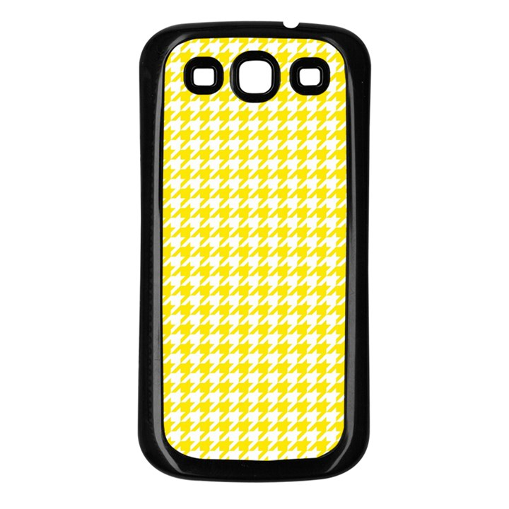 Friendly Houndstooth Pattern,yellow Samsung Galaxy S3 Back Case (Black)
