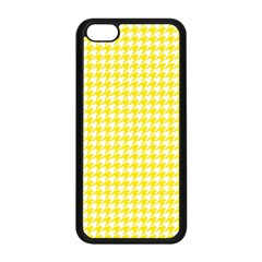 Friendly Houndstooth Pattern,yellow Apple Iphone 5c Seamless Case (black)