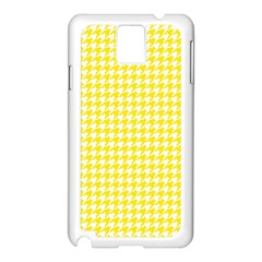 Friendly Houndstooth Pattern,yellow Samsung Galaxy Note 3 N9005 Case (white)