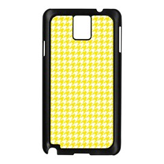 Friendly Houndstooth Pattern,yellow Samsung Galaxy Note 3 N9005 Case (black)