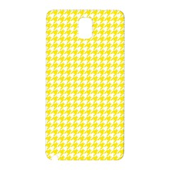 Friendly Houndstooth Pattern,yellow Samsung Galaxy Note 3 N9005 Hardshell Back Case