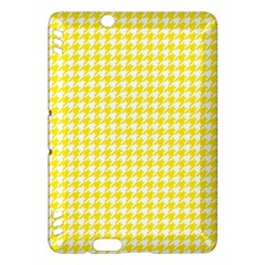 Friendly Houndstooth Pattern,yellow Kindle Fire Hdx Hardshell Case