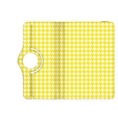Friendly Houndstooth Pattern,yellow Kindle Fire Hdx 8 9  Flip 360 Case