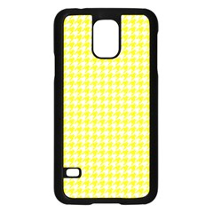 Friendly Houndstooth Pattern,yellow Samsung Galaxy S5 Case (black)
