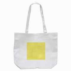 Friendly Houndstooth Pattern,yellow Tote Bag (white)