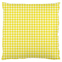 Friendly Houndstooth Pattern,yellow Large Flano Cushion Case (two Sides)