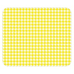 Friendly Houndstooth Pattern,yellow Double Sided Flano Blanket (small)