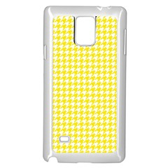 Friendly Houndstooth Pattern,yellow Samsung Galaxy Note 4 Case (white)