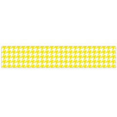 Friendly Houndstooth Pattern,yellow Flano Scarf (large)