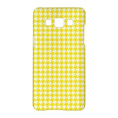 Friendly Houndstooth Pattern,yellow Samsung Galaxy A5 Hardshell Case