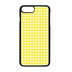 Friendly Houndstooth Pattern,yellow Apple Iphone 7 Plus Seamless Case (black)