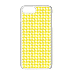 Friendly Houndstooth Pattern,yellow Apple Iphone 7 Plus White Seamless Case