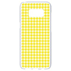 Friendly Houndstooth Pattern,yellow Samsung Galaxy S8 White Seamless Case