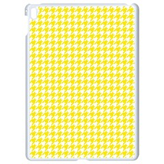 Friendly Houndstooth Pattern,yellow Apple Ipad Pro 9 7   White Seamless Case