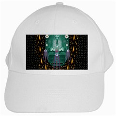 Temple Of Yoga In Light Peace And Human Namaste Style White Cap