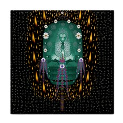 Temple Of Yoga In Light Peace And Human Namaste Style Tile Coasters