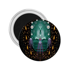 Temple Of Yoga In Light Peace And Human Namaste Style 2 25  Magnets