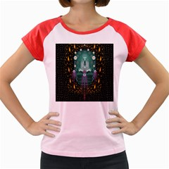 Temple Of Yoga In Light Peace And Human Namaste Style Women s Cap Sleeve T Shirt