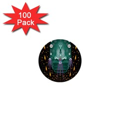 Temple Of Yoga In Light Peace And Human Namaste Style 1  Mini Buttons (100 Pack)