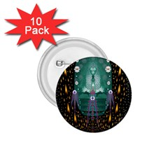 Temple Of Yoga In Light Peace And Human Namaste Style 1 75  Buttons (10 Pack)