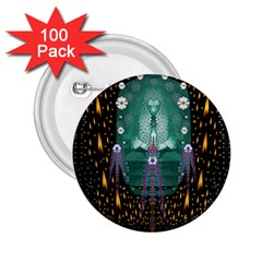 Temple Of Yoga In Light Peace And Human Namaste Style 2 25  Buttons (100 Pack)
