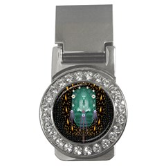 Temple Of Yoga In Light Peace And Human Namaste Style Money Clips (cz)