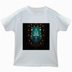 Temple Of Yoga In Light Peace And Human Namaste Style Kids White T Shirts