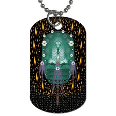 Temple Of Yoga In Light Peace And Human Namaste Style Dog Tag (one Side)