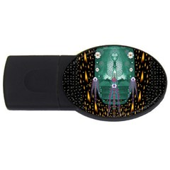 Temple Of Yoga In Light Peace And Human Namaste Style Usb Flash Drive Oval (4 Gb)