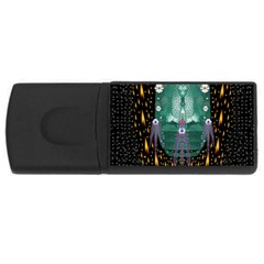 Temple Of Yoga In Light Peace And Human Namaste Style Rectangular Usb Flash Drive