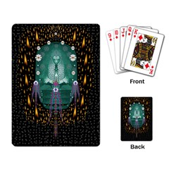Temple Of Yoga In Light Peace And Human Namaste Style Playing Card