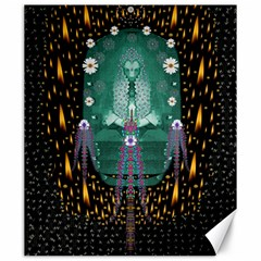 Temple Of Yoga In Light Peace And Human Namaste Style Canvas 20  X 24