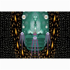 Temple Of Yoga In Light Peace And Human Namaste Style Canvas 24  X 36