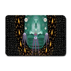 Temple Of Yoga In Light Peace And Human Namaste Style Small Doormat