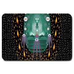 Temple Of Yoga In Light Peace And Human Namaste Style Large Doormat