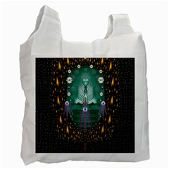 Temple Of Yoga In Light Peace And Human Namaste Style Recycle Bag (one Side)