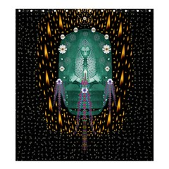Temple Of Yoga In Light Peace And Human Namaste Style Shower Curtain 66  X 72  (large)