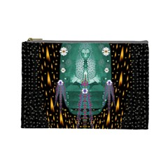 Temple Of Yoga In Light Peace And Human Namaste Style Cosmetic Bag (large)